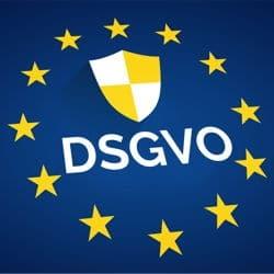 Logo Datenschutz Grundverordnung (DSGVO / GDPR)